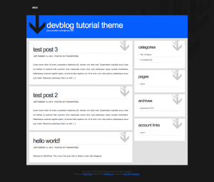 DevBlogTutorialTheme 1284209113572 300x255 Quickly Build a Basic Custom WordPress Theme with Ease