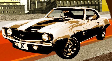 car Create Retro Graphics in Photoshop