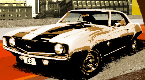 carshadow Create Retro Graphics in Photoshop