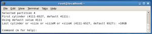 fdisklastcylinder 300x68 Creating Linux Partitions Using fdisk