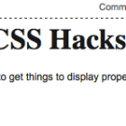Internet Explorer CSS Hacks