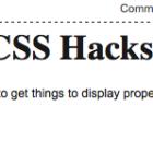 Internet Explorer CSS Hacks
